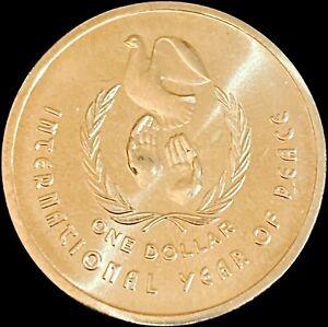 AUSTRALIA. 1986, Dollar - QEII, International Year of Peace