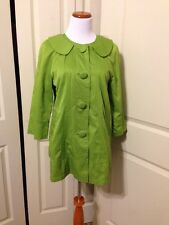 Ambition Green Fully Lined Jacket Size M 3/4 Sleeve