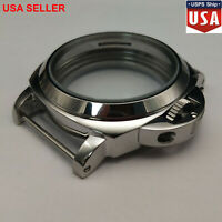 44mm Stainless Steel Polished Watch Case for ETA 6497/6498 Seagull ST36 Movement