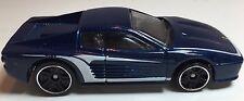 Hot Wheels 1997 Ferrari F512M  Scale 1:64 Blue Diecast Model Car (Loose)