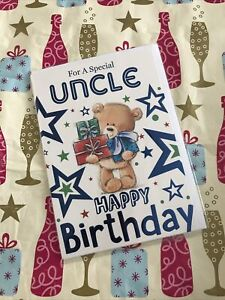 FOR A SPECIAL UNCLE HAPPY BIRTHDAY GREETING CARD WISHES CUTE TEDDY BEAR Family