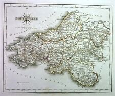 Antique map, South Wales .
