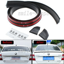4.9ft/1.5M Black No Drilling Car Roof Rear Tail Fin Empennage Trunk Spoiler Wing