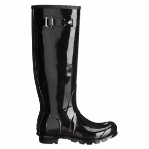Hunter Original Tall Gloss Black Wellies Womens Rainboots