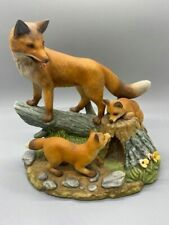 Red Fox Family - Porcelain Figurine from - Andrea By Sadek #6645