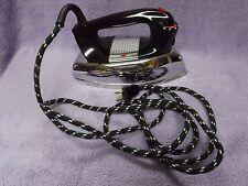 Vintage 1950s GE General Electric 1100 Watt Power Spray Steam Iron Cloth Cord