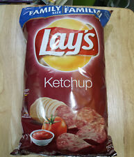 6 bags Lay's Ketchup Potato Chips - 255g each + Coffee Crisp Hot Chocolate Mix