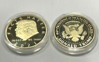 US Seller ** Qty two- 2 FACTS MATTER !! Donald Trump Golden Joe Biden Slam Coin