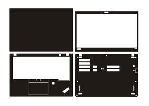 "Laptop Sticker Skin Decal Carbon fiber Cover for Lenovo ThinkPad T490S 14"""