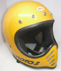 VINTAGE BELL MOTO 3 YELLOW MOTOCROSS MOTORCYCLE HELMET SIZE 7 MADE IN USA L@@K