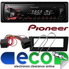 Fiat Grande Punto 05-14 Pioneer Mechless MP3 USB Aux BLACK Fascia Car Stereo Kit