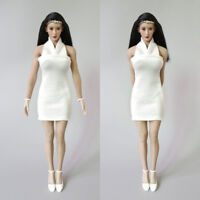 "1//6th Custom White elasticity Pants Model For 12/"" PH hotstuf UD Female Body Doll"