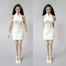 "Custom 1:6 Scale White Skirt/Dress For 12"" Female PH UD JO Body Doll Toy Figure"