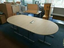 More details for meeting office 10 seater maple effect wood conference oval folding table bristol
