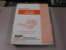 Massey Ferguson MF 760  COMBINE  PARTS BOOK