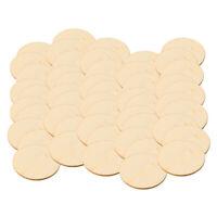 50 pezzi pezzi rotondi in legno pezzi di legno incompiuti dischi dischi