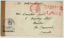 Feb 22 1945 Canada Cover Ship Mail Sent From Soldier Stationed on Battleship