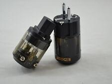 One Pair Rhodium Plated P-004E + C-004 IEC EU Power plug Connector