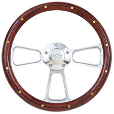 1974 - 1994 Chevy C/K Series Pick-Up Truck Wood Steering Wheel & Billet Adapter