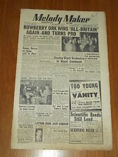 MELODY MAKER 1951 #944 OCT 20 JAZZ SWING ROWBERRY TOMMY DORSEY CARROLL GIBBONS