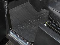 LAND Rover Defender 90 110 130 Anteriore Tappetino di gomma nera Paio Set - - da4423