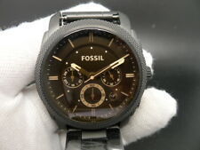 NEW OLD STOCK FOSSIL MACHINE FS4682 CHRONOGRAPH BLACK SS QUARTZ MEN WATCH