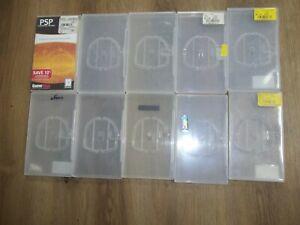 lot of 10 used empty PSP UMD cases OEM genuine
