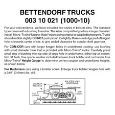 Micro-Trains 00310021 - Bettendorf Trucks With Short Extension Couplers (1000...