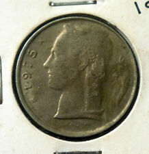 1975 Belgium 5 Francs Cupro Nickel 'UNCLEANED' 'VF/EF'.