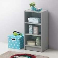Small 3 Tier Cube Bookcase Display Shelving Storage Unit Furniture Grey
