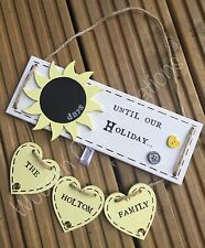 Personalised Wooden Plaque Sign Countdown Family Holiday Vacation