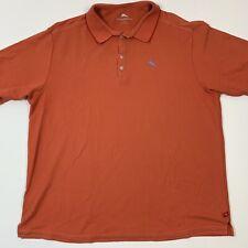 Tommy Bahama Mens Polo Shirt 2XB Orange Short Sleeve