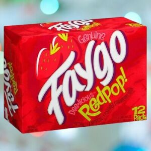 Faygo Red Pop 12oz 355ml 12 Cans American US IMPORT