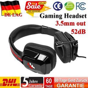 3.5mm Gaming Headset Kopfhörer Headphone Mikrofon Stereo für PS4 PC Mac Xbox One