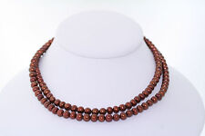 30inch 5.5 to 6.0mm Round Chocolate Genuine Cultured Freshwater Pearl Necklace