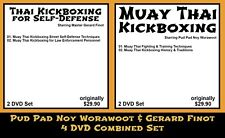 Muay Thai with Gerard Finot & Pud Pad Noy Worawoot (4 DVD Combined Set)