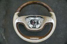 Steering Wheel Round Heated Lane Assist Burr Walnut Beige S550 S63 W222 14-17