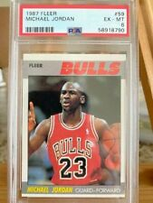 1987 fleer Michael Jordan card, PSA 6