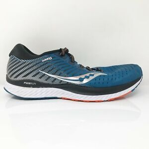 Saucony Mens Guide 13 S20548-25 Black Blue Running Shoes Lace Up Size 10