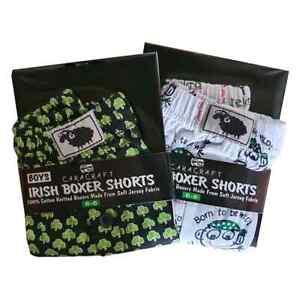 2 Pairs Of Boys Boxer Shorts 100% Cotton