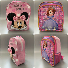 New! Disney Minnie Mouse Sofia the First 3D Backpack Pink School Holiday Bag