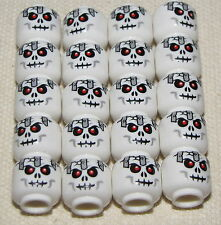 LEGO LOT OF 20 NEW SKELETON MINIFIGURES WITH RED EYES AND BOLT IN HEAD
