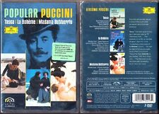 3.DVD PUCCINI TOSCA / MADAMA BUTTERFLY / LA BOHEME Placido Domingo Freni Karajan