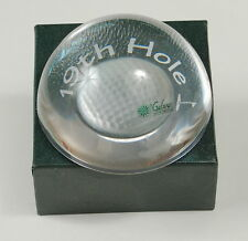 Galway Irish Crystal Paperweight Golf Ball 19th Hole