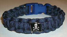 ROYAL NAVY SUBMARINER PARACORD WRISTBAND WITH SKULL AND CROSSBONES BADGE