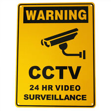 2x Warning Sign Metal Security Camera 300x225mm Under 24h Surveillance Best Sell