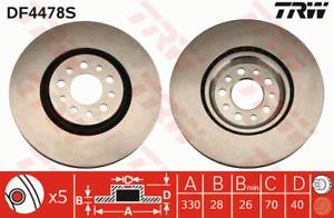 TRW Brake Rotor Front DF4478S fits Alfa Romeo 159 1.7 TBi (939), 1.9 JTDM 16V...