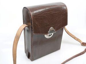 Kleine Stylische Ledertasche Umhängetasche mit Gurt von Kodak ca. 50er Jahre