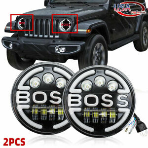 Pair 7Inch Round 280W LED Headlights Hi/Lo Beam for 97-17 JEEP JK TJ LJ Wrangler