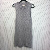 Forever 21+ Plus Size 1X Heather Blue Turtleneck Sleeveless Sweater Dress